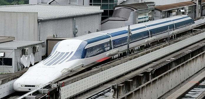 Japan's Maglev bullet train breaks 12 year old speed record and sets a new record of 590 km/h