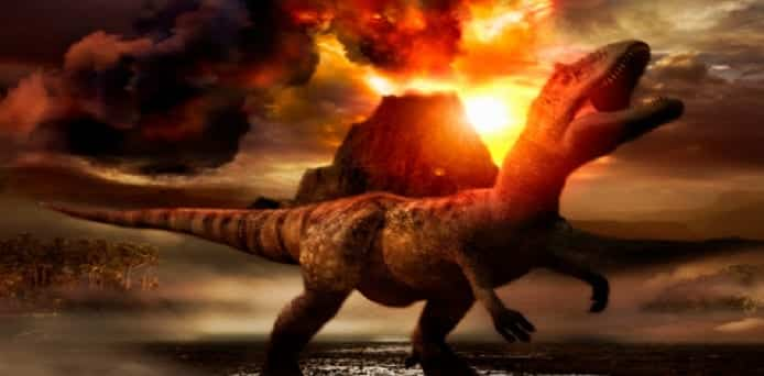 Asteroid triggered Volcanic eruptions that led to extinction of dinosaurs