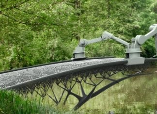 Amsterdam To Get World's First 3D Printed Bridge Drawn By Mid-Air Robots