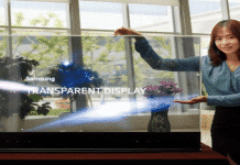 """Samsung Launches New 55 Inch Transparent and Mirror OLED Displays Which Create """"The Magic Mirror"""""""