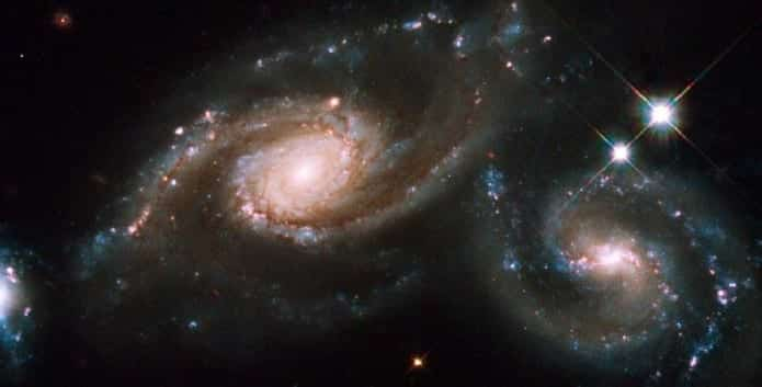 Scientists have now discovered what happens when two different sized galaxies collide with each other