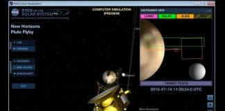 Now watch live computer simulation of New Horizons' with the new app launched by JPL of NASA