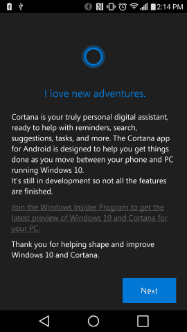 Microsoft's Personal Assistant for Windows, Cortana for Android smartphones gets leaked, APK download link