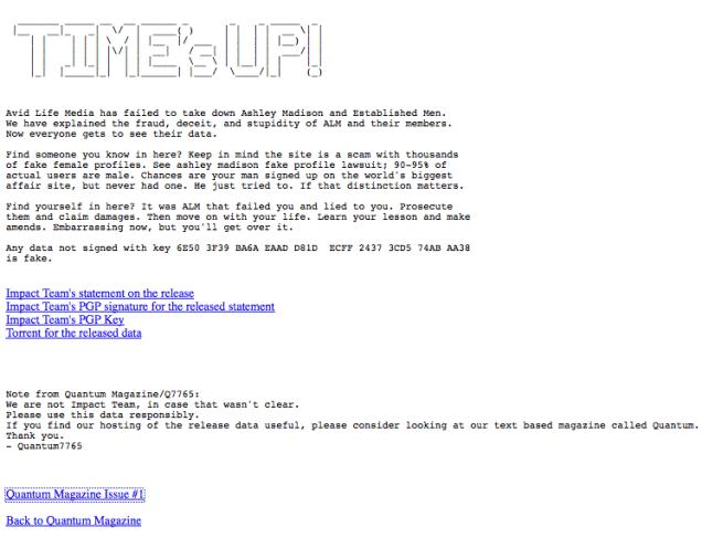 ashley madison hack leak adultery online impact team
