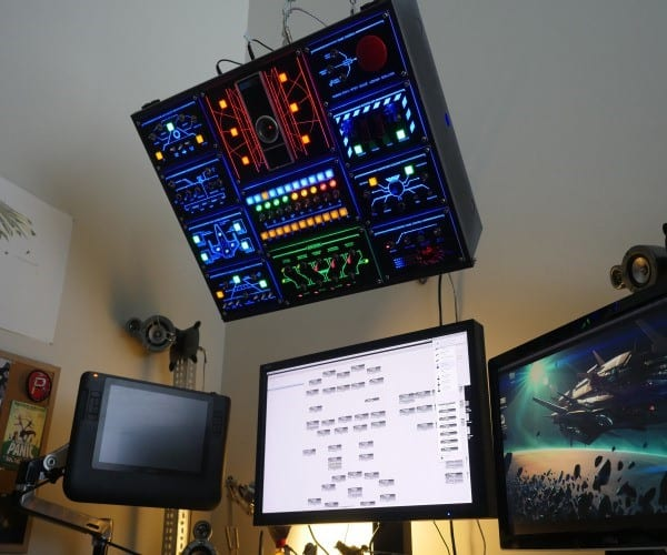 Man Builds Fully-Functional Control Panel For His Computer