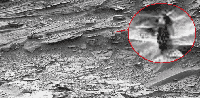 NASA's Curiosity rover spots an image of a 'Dark Lady' on Mars