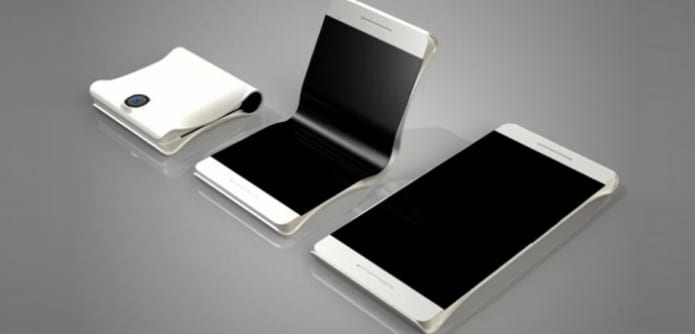 Samsung patents a touchscreen smartphone that can be folded into half