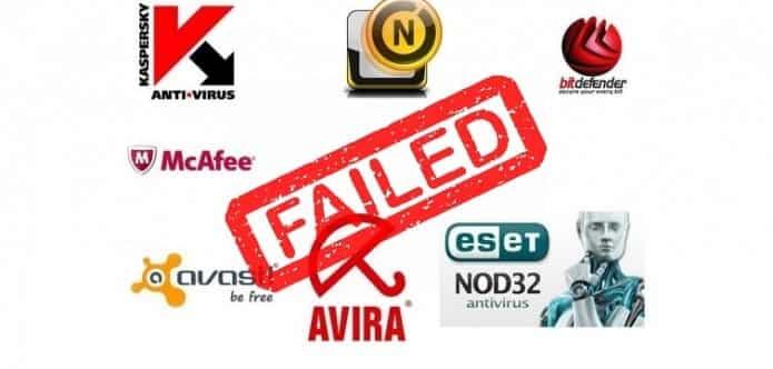 Top Anti-virus like Avast, McAfee, Norton, Avira, Kaspersky and Bitdefender fail miserably in basic security tests