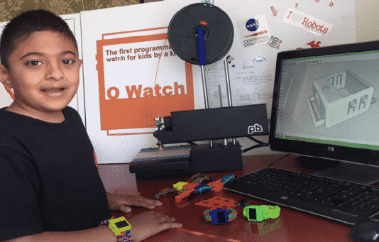 8-Year-Old Develops First 3D Printed Smartwatch For Kids