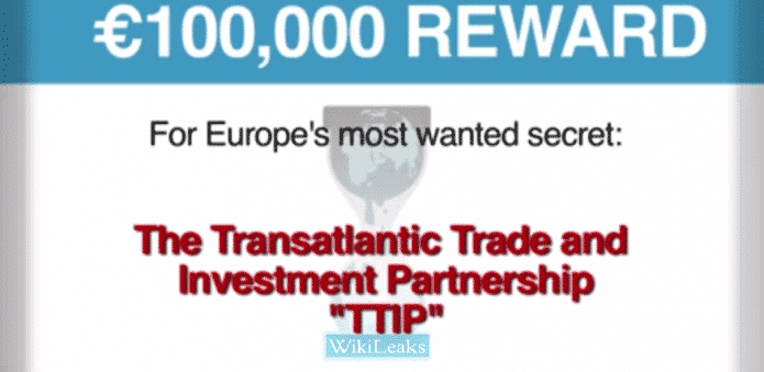 What is TTIP? Wikileaks is raising $109700 reward for TTIP secrets