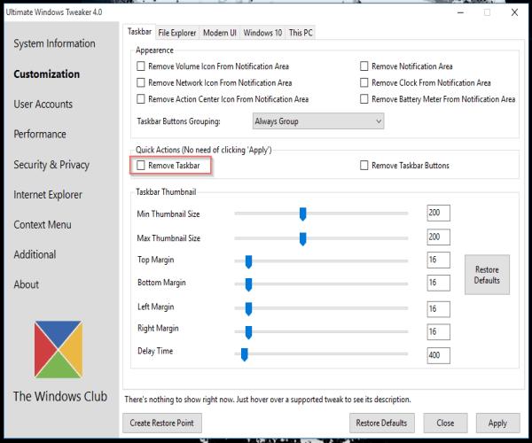 Ultimate Windows Tweaker 4 for Windows 10 released