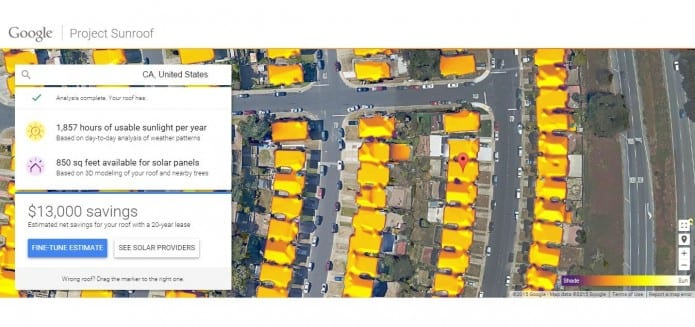 Google's 'Project Sunroof' Will Help You Install Solar Roof Panels