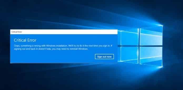 Despite fix, Windows 10 Users Still Getting Critical Errors in Start Menu and Cortana