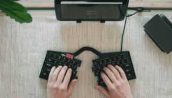 'Ultimate Hacking Keyboard' splits in half and is fully programmable