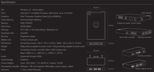 Kangaroo, a $99 Windows 10 home edition desktop PC as small as a smartphone