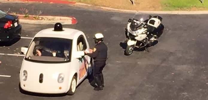 Policeman pulled over Google's self driving car for driving slowly