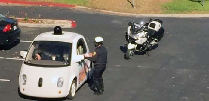 Cops pulls over Google self-driving car for traffic violation, but who gets the ticket?