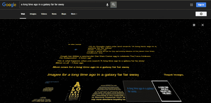 Google gifts a Easter Egg on the eve of Star Wars release