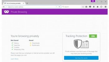 Upgraded Firefox Private Browsing has Tracking Protection