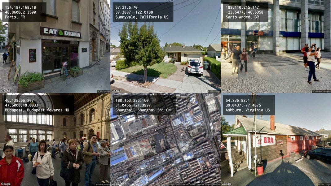 Tracing You is a website that views the world according to its visitors' viewpoint