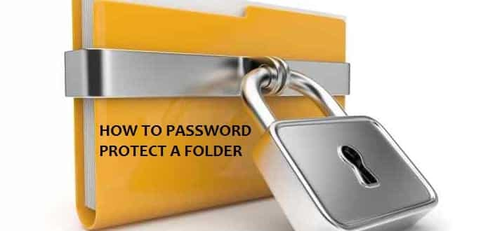 How to protect a Folder with password in Windows PC/laptop