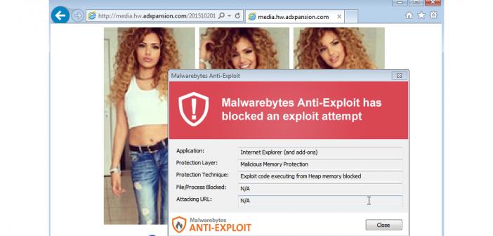 adult websites serve malvertising