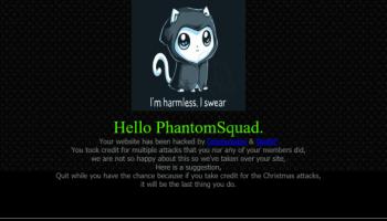 Hacking group 'SkidNP' hack and deface Phantom Squad's website
