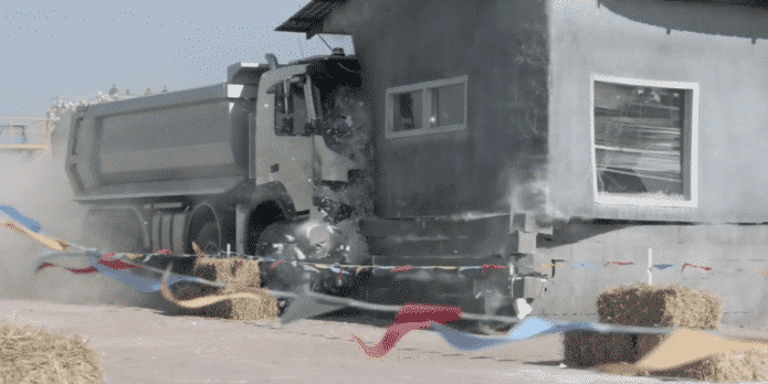 Volvo allows a 4 year old to control its truck to show its strength and stability
