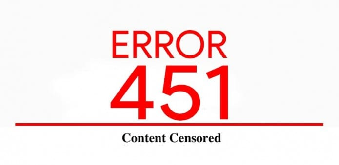 Error 451: New HTTP code to show that sites are censored
