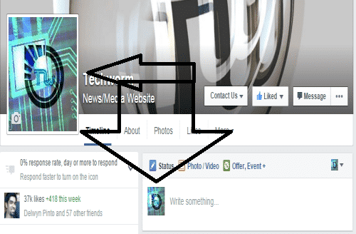 This is how to use two separate display profile pictures in Facebook