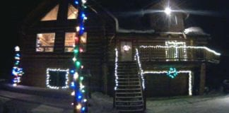 You can control the Christmas lights in this house from your browser