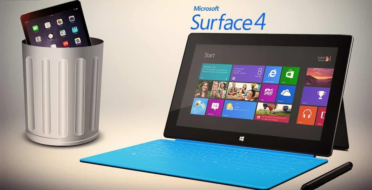 Microsoft's Surfrace Pro 4 helps it overtake Apple in online sales