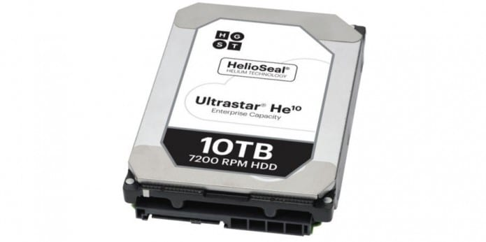Western Digital's HGST releases helium-filled 10TB hard drive