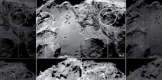 Reachersers find water ice on comet 67P's surface