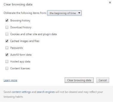 Clear browser history quickly