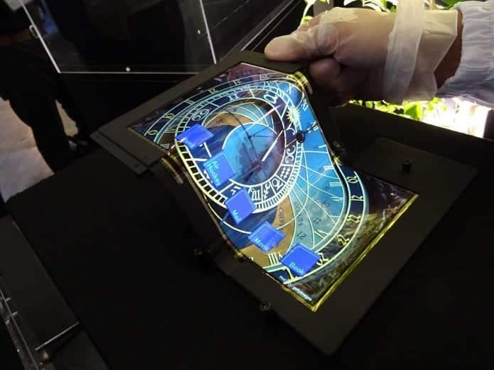 Foldable display smartphones, foldable displays