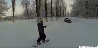 Droneboarding on snow is the latest sport that will take the world by storm
