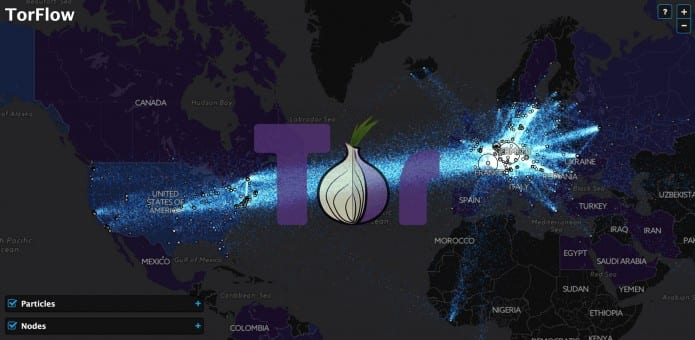 Tor Relay Nodes visualised