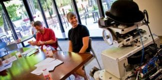 Larry Page at Willow Garage in 2009