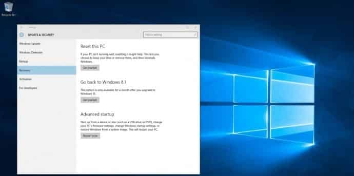 Downgrade windows 10 to windows 7