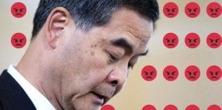 Hong Kong leader gets a taste of Facebook reactions with thousands of 'Angry Face'