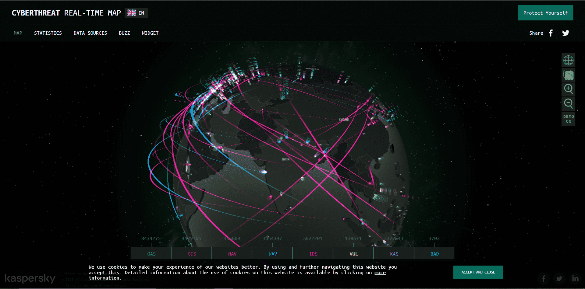 ddos real time map