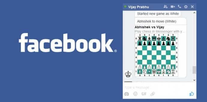 Here is how to unlock hidden Chess game in Facebook Messenger