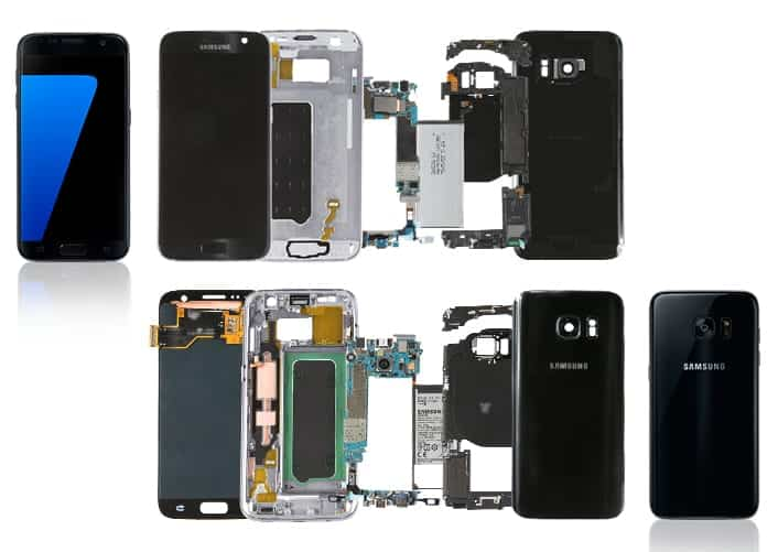 Galaxy S7 and Galaxy S7 edge get a teardown; let's see what's inside