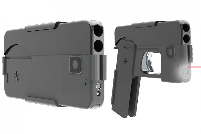 A pistol that can be shape shifted into a smartphone is the thinnest weapon you can carry
