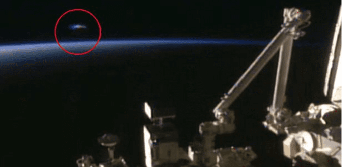 'Millennium Falcon' UFO spotted during live feed, NASA fails to explain its presence