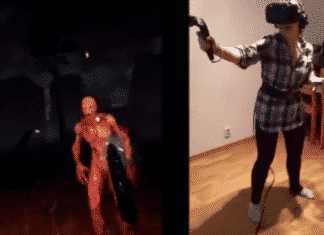 Watch this girl left completely stirred and shaken playing a VR game