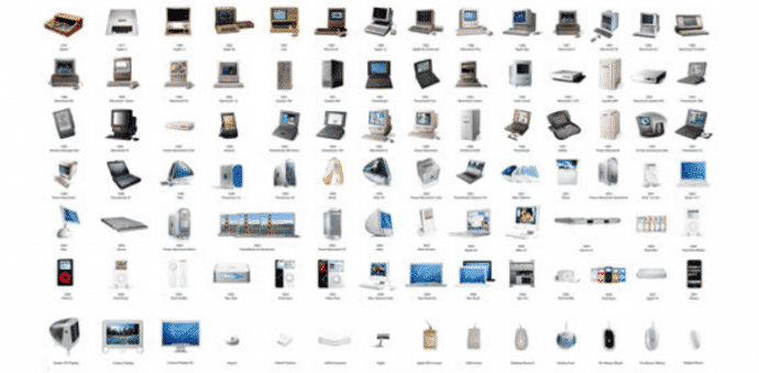 This single splendid infographic displays all of Apple's products