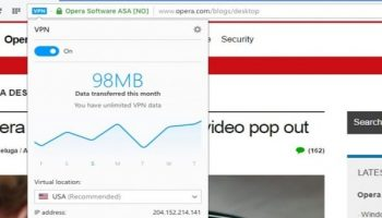 Opera Introduces Free Unlimited VPN Feature In Its Web Browser