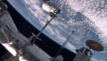 SpaceX Dragon Arrives At The International Space Station